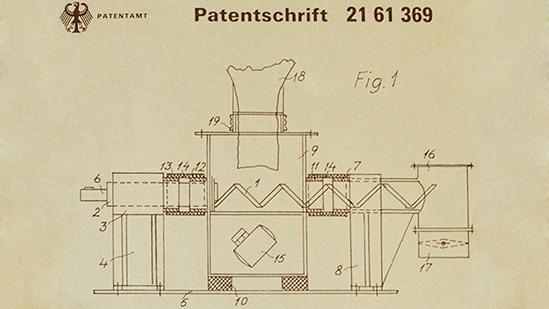 Patent Vibrationsdosiermaschine - Historie