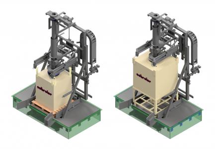 Kombi-Befüllstation mit Grubenwaage für BIGBAG und Container