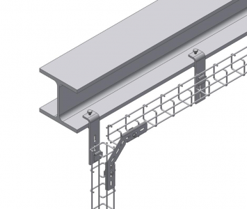 mesh gutter support suspension